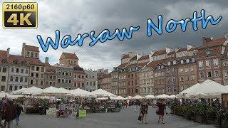 Warsaw North, City Walk - Poland 4K Travel Channel