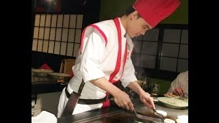 Benihana Chef Cooking At Table Review HD Video Japanese Menu Restaurant Review 2014