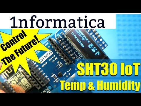 WeMos SHT 30 Temperature & Humidity from Banggood Internet Of Things IoT Example
