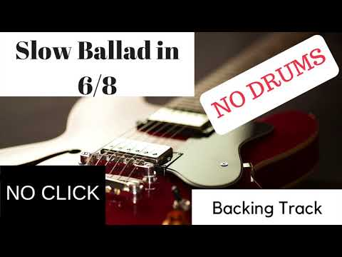 Acoustic Rock Drumless Backing Track In 6/8 With Metronome