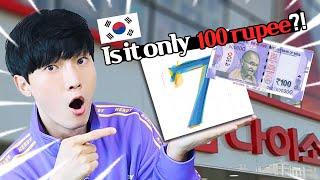 Do shopping in Korean store Daiso with 100rupee!
