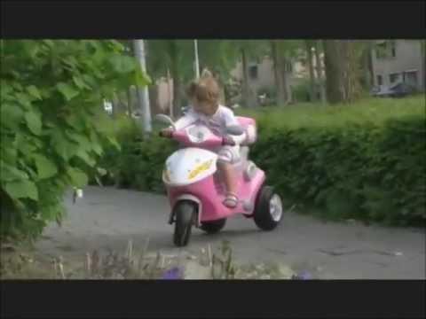 Kinderscooter 6V (roze)