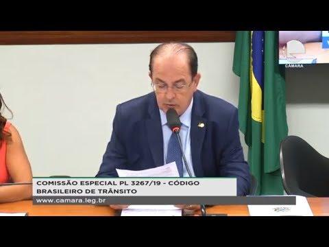 PL 3267/19 - Código Brasileiro de Trânsito - Plano de trabalho do relator - 25/09/2019 - 15:59
