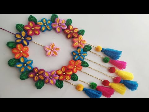 Download Diy Wall Hanging Out Of Wool Wool Flower Making Home