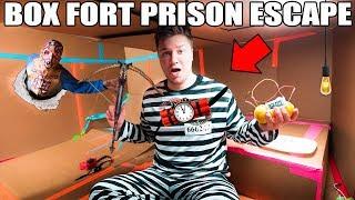 24 HOUR BOX FORT PRISON ESCAPE!! 📦🚔  ZOMBIE PRISON ESCAPE - Video Youtube