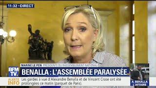 """Pour Marine Le Pen l'affaire Benalla se transforme """"en affaire Macron"""""""