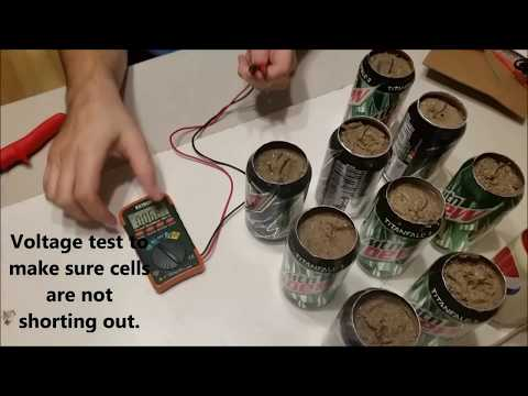 Soda Can Battery – Power From Trash – DIY Project