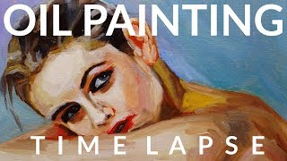#056 * Woman On Chair * Now I Want To Paint Like Malcolm T. Liepke *