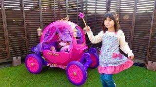 メルちゃんプリンセスに変身💗ようこそ!ねみのビビディバビディブティック こうくんねみちゃん NEMI's Bibbidi Bobbidi Boutique Pumpkin carriage