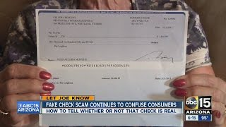 Fake check scam continues to confuse consumers
