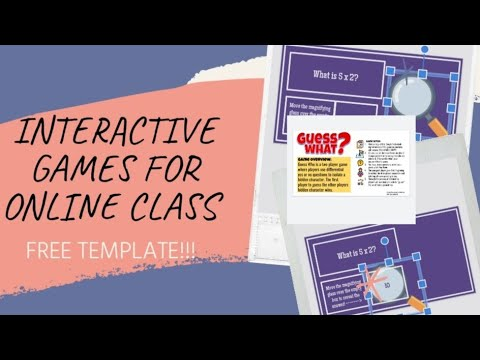 INTERACTIVE GAMES for ONLINE CLASS