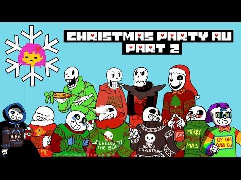 Christmas Party Au Comic.Undertale Comic Dub Christmas Party Au The Tea Party
