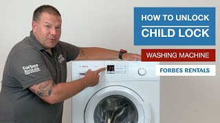 How to unlock Child Lock from your washing machine?