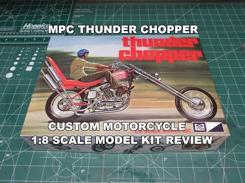 MPC THUNDER CHOPPER CUSTOM MOTORCYCLE 1:8 MODEL KIT REVIEW MPC835