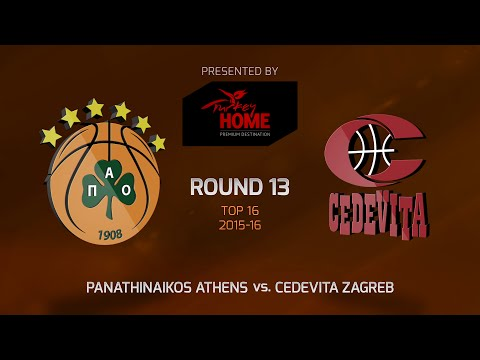 Highlights: Top 16, Round 13, Panathinaikos Athens 76-60 Cedevita Zagreb