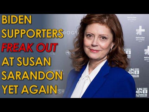 Joe Biden HACKS freak out at Susan Sarandon and Ryan Knight for no reason