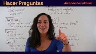 Free Spanish Lessons - Asking Questions (Hacer preguntas) 07