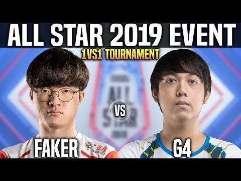 Faker vs G4 - Faker Lucian vs G4 Ryze - 1vs1 Tournament LOL All Star 2019 Day 1