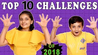 TOP 10 CHALLENGES | #Kids #Funny | All Challenges | Aayu and Pihu Show