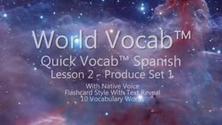 World Vocab™: Spanish Produce Set 1