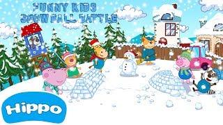 Гиппо 🌼 Битва Снежками для Детей 🌼 Мультик игра для детей (Hippo)