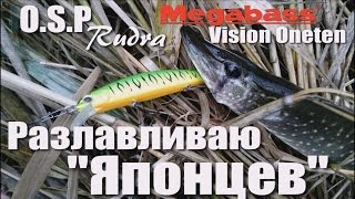 Ловля щуки на воблеры. Твичинг. O.S.P Rudra / Megabass Vision Oneten