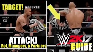 WWE 2K17: You can now Target Referee, Managers, & Tag Team Partners (Video)