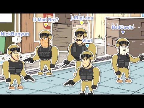 CS GO Cartoons Ep 1 - Typical CSGO Team