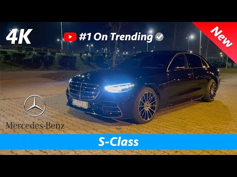 Mercedes S-Class 2021 AMG Line - FIRST Look at night in 4K | Digital & Ambient Lights