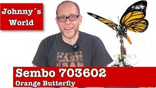 Sembo 703602 Orange Butterfly - Technik-Insekten Unboxing, Aufbau + FAZIT