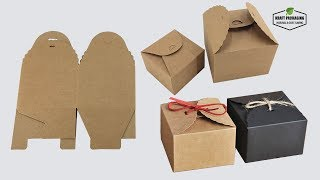 How To Fold Kraft Paper Candy Gift Packaging Boxes With Rope Closure