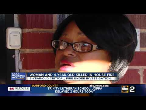 Woman, 4-year-old killed in NE Baltimore house fire