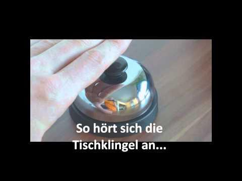 Die Tischklingel Rezeptionsklingel Hotelklingel Tischglocke Pascher Glocke / Klingel