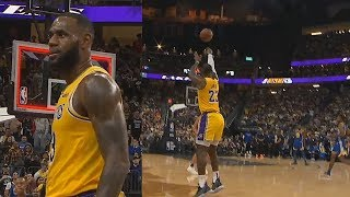 LeBron James Brings The Crowd To Their Feet With Half Court Buzzer Beater! Lakers vs Warriors