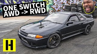 750hp R32 GTR Switches From AWD to RWD!! Shredding The Original Godzilla