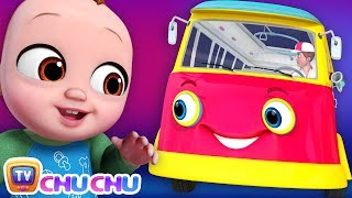 *New* Wheels on the Bus Song - Baby Starts Crying | ChuChu TV 3D Nursery Rhymes and Kids Songs