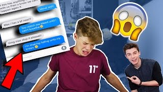 SONG LYRIC TEXT PRANK ON MY EX! (GOES WRONG) Stitches - Shawn Mendes