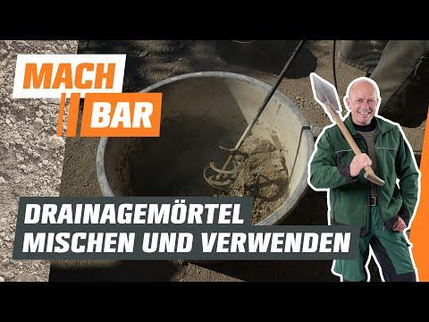 Drainagemörtel mischen und verwenden   OBI