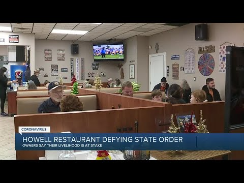 Howell restaurant offers indoor dining defying state's orders