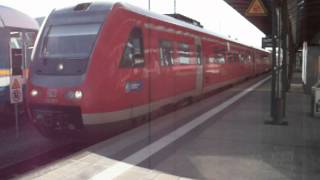 preview picture of video 'BR 612 057  (DB) als RE nach Nürnberg Hbf. - Hof Hbf.'