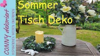 DIY Kranz und Tisch Deko mit Eukalyptus und Pfingstrosen | Sommer Deko für den Tisch und die Haustür