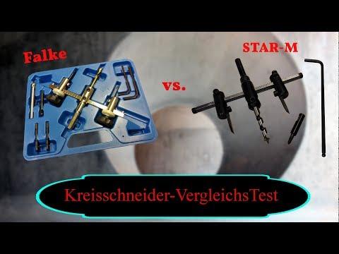 Kreisschneider-Vergleichstest / Falke gegen STAR-M/verstellbare Lochsäge