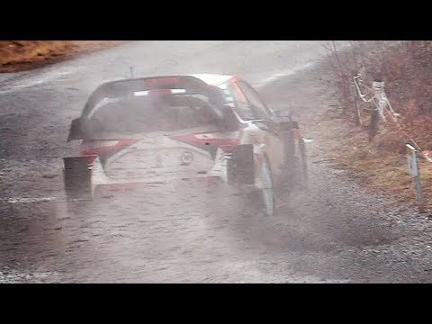 Rally Monte-Carlo 2018 SS10: WRC Cars FLATOUT into a Slippery 6th gear corner!!