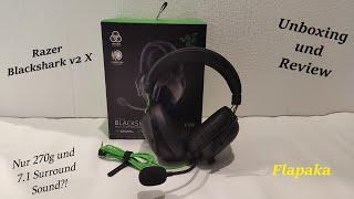 Razer Blackshark V2 X Headset: Unge, UnsympatischTV,...Headset test- Unboxing und Review - Flapaka