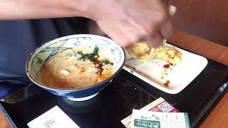 一人飯585丸亀製麺うま辛坦々うどんを頂きました!