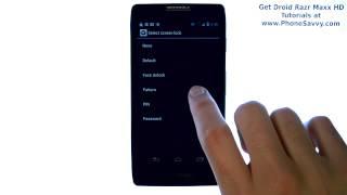 Motorola Droid Razr Maxx HD - How Do I Setup Screen Lock Pattern Pin Password Face Unlock