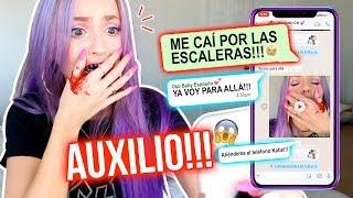 ME CAÍ DE LAS ESCALERAS!!! 😰 AUXILIO!!!😭   BROMA ÉPICA!!🤭   Katie Angel