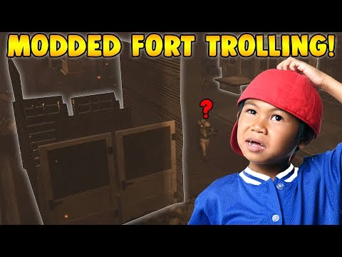 MODDED FORT TROLL IN ZOMBIES!!! (Zombie Mod Troll!)