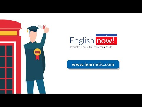 English now! Fully Interactive A1-B2 Language Course for Teenagers and Adults