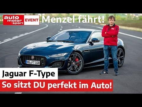 Menzel fährt Jaguar F-Type: Das musst DU wissen zur perfekten Sitzposition!   auto motor und sport